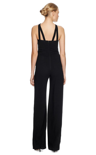 Grosgrain Strap Wool Jumpsuit by MARTIN GRANT Now Available on Moda Operandi