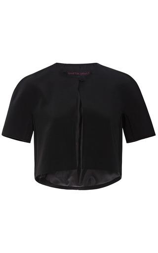 Medium martin grant black sateen bolero jacket