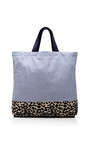 Striped And Printed Tote by VANITIES Now Available on Moda Operandi
