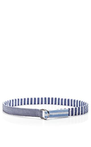 Medium vanities blue striped belt