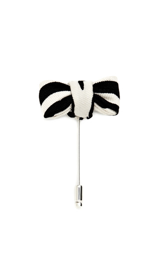Medium vanities black printed bow pin