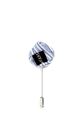 Striped Flower Pin by VANITIES Now Available on Moda Operandi