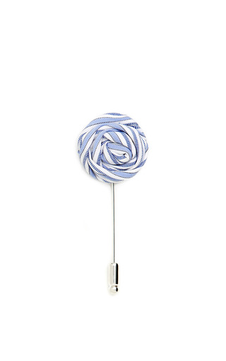 Medium vanities blue striped flower pin