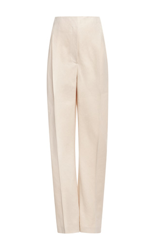 Medium delpozo brown pleated high waisted woven pants