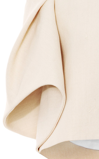Woven Cape Effect Cropped Jacket by DELPOZO Now Available on Moda Operandi