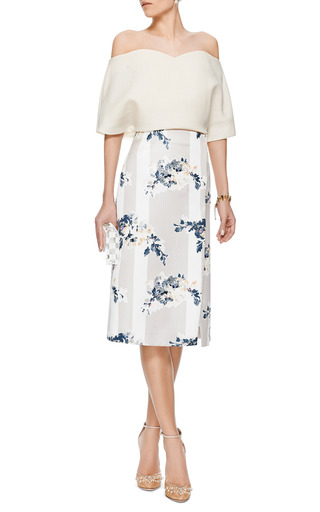 Strapless Balloon Sleeve Top by DELPOZO Now Available on Moda Operandi