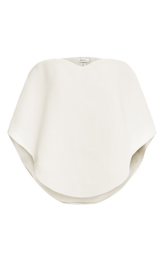 Medium delpozo ivory strapless balloon sleeve top