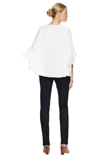 Cotton Poplin Ruffled Top by DELPOZO Now Available on Moda Operandi