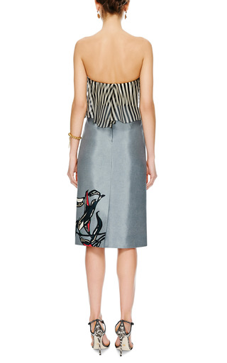 Ruffled Bustier Top by DELPOZO Now Available on Moda Operandi