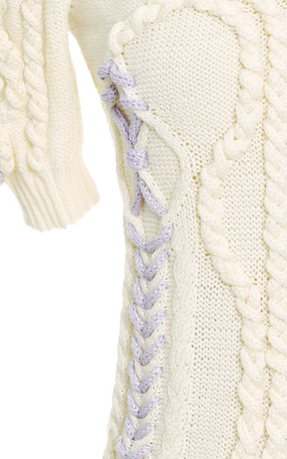 Knitted Cotton V Neck Sweater by DELPOZO Now Available on Moda Operandi