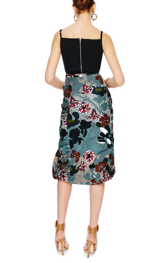 Printed Ruffled Cloqué Skirt by MARNI Now Available on Moda Operandi