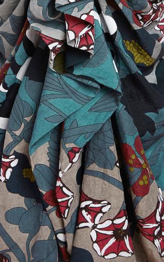 Printed Ruffled Cloqué Skirt by MARNI Now Available on Moda Operandi