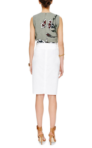Printed Linen Top by MARNI Now Available on Moda Operandi