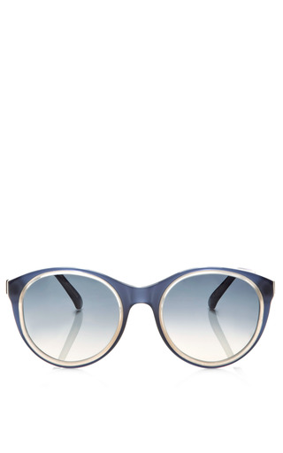 Round Frame Acetate Sunglasses by MARNI Now Available on Moda Operandi