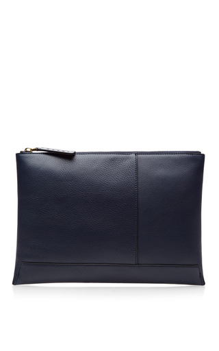 Two Tone Zip Top Leather Clutch by MARNI Now Available on Moda Operandi