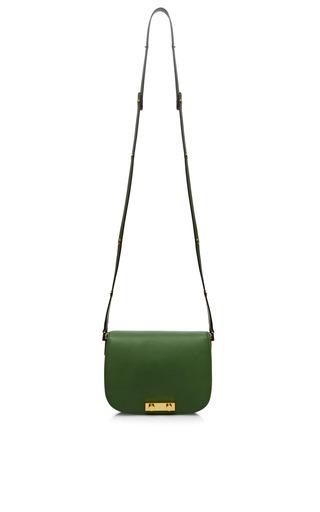 Medium marni green small leather shoulder bag