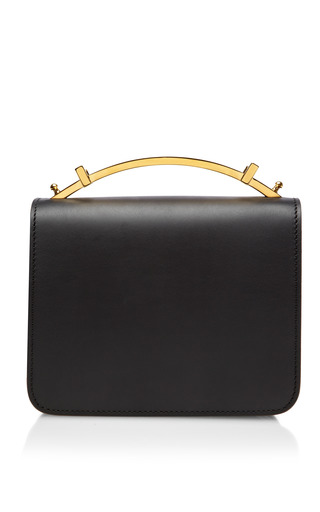 Medium marni black small leather camera case bag