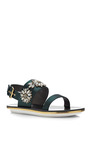 Embellished Satin Sandals by MARNI Now Available on Moda Operandi