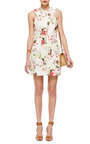 Floral Denim Criss Cross Dress by CARVEN Now Available on Moda Operandi