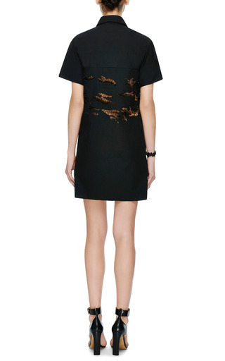 Cut Out Poplin Dress by CARVEN Now Available on Moda Operandi