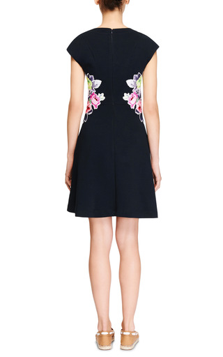 Floral Appliqued Jersey Dress by CARVEN Now Available on Moda Operandi