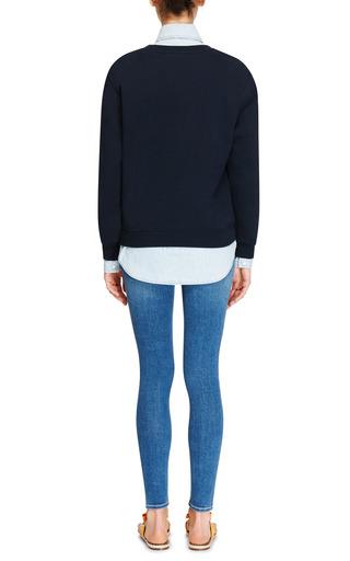 Mesh Appliquéd Sweatshirt by CARVEN Now Available on Moda Operandi
