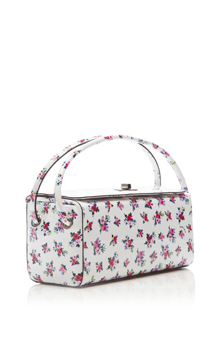 Floral Printed Patent Leather Bag by CARVEN Now Available on Moda Operandi