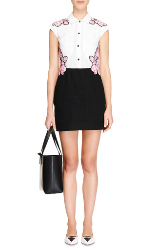Appliquéd Cotton And Silk Dress by CARVEN Now Available on Moda Operandi
