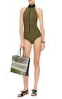 Lisa Marie Bonded Zip Front Swimsuit by LISA MARIE FERNANDEZ Now Available on Moda Operandi