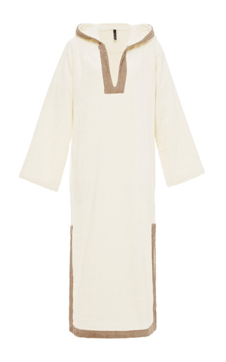 Medium lisa marie fernandez off white hooded terry cotton kaftan