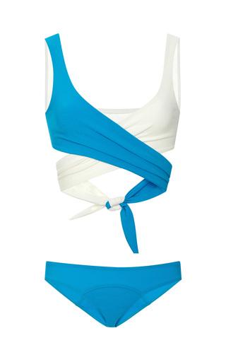 Medium lisa marie fernandez ivory marie louise vintage wrap top bikini