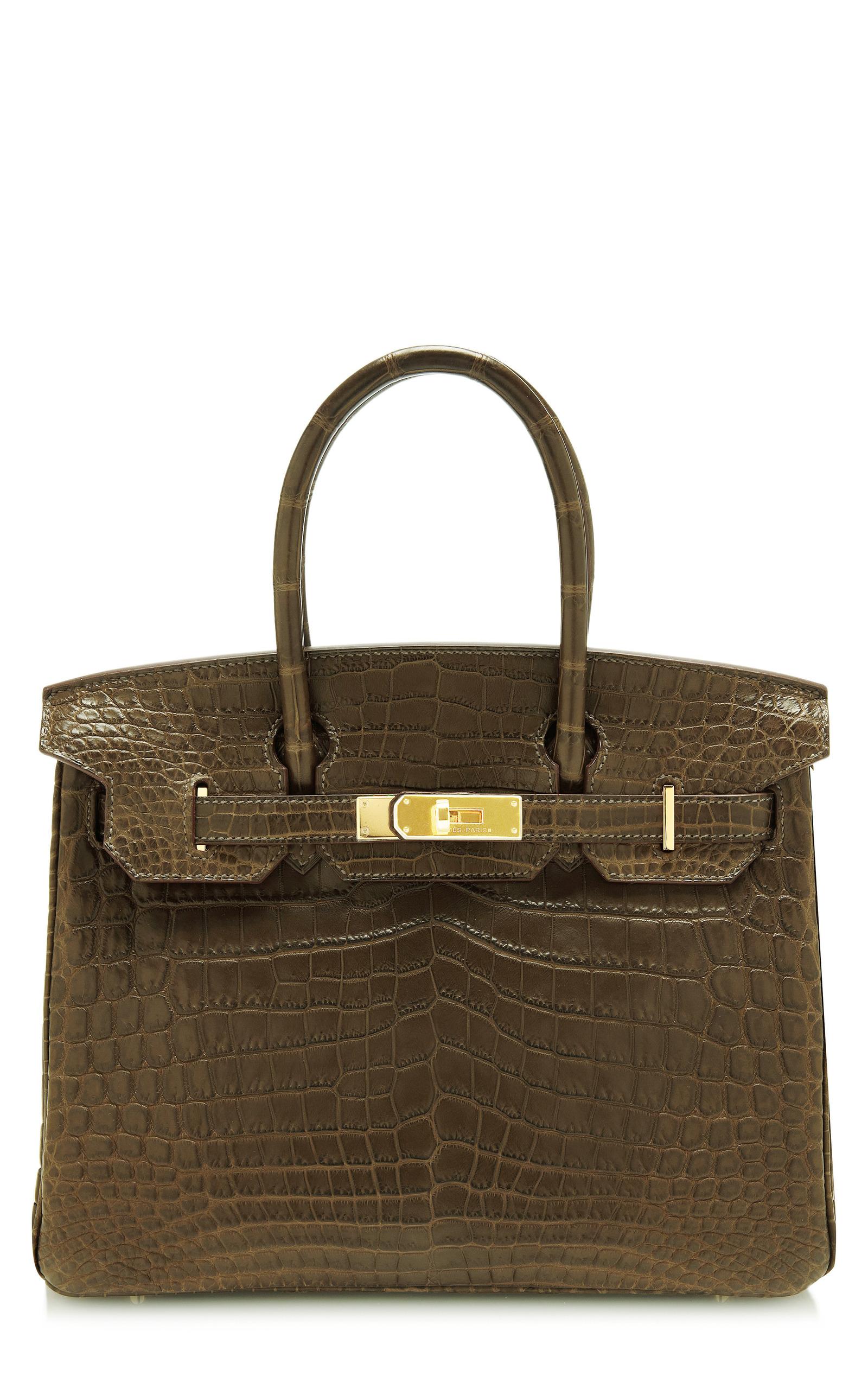 Hermes Vintage30Cm Matte Gris Elephante Nilo Crocodile Hermes Birkin.  CLOSE. Loading 09af5528e5030