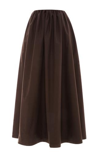 Bitter Chocolate Full Cotton Skirt by ISA ARFEN Now Available on Moda Operandi