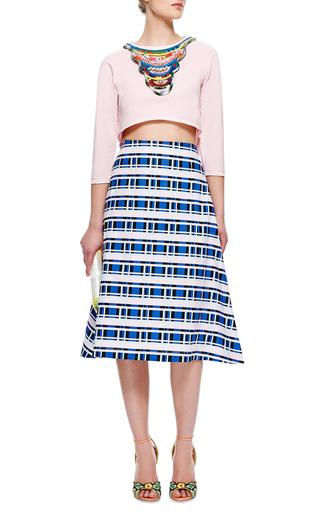 M'o Exclusive: Igorot Cropped Embellished Sweatshirt by BETINA Now Available on Moda Operandi