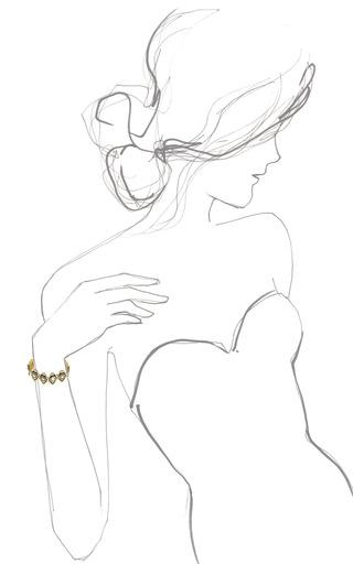 Eye Link Bracelet by PAMELA LOVE for Preorder on Moda Operandi