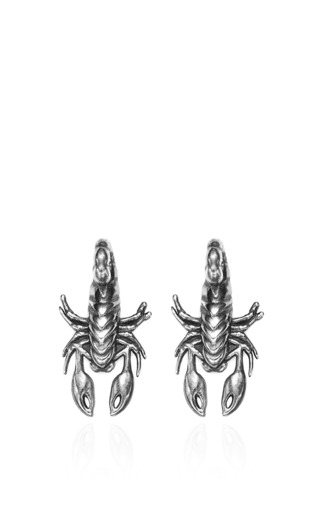 Scorpion Stud Earrings by PAMELA LOVE for Preorder on Moda Operandi