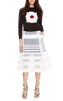 Striped Jacquard Gauze Skirt by TIBI Now Available on Moda Operandi