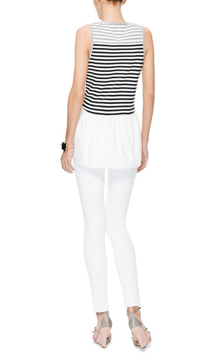 Striped Cotton Jersey Top by TIBI Now Available on Moda Operandi