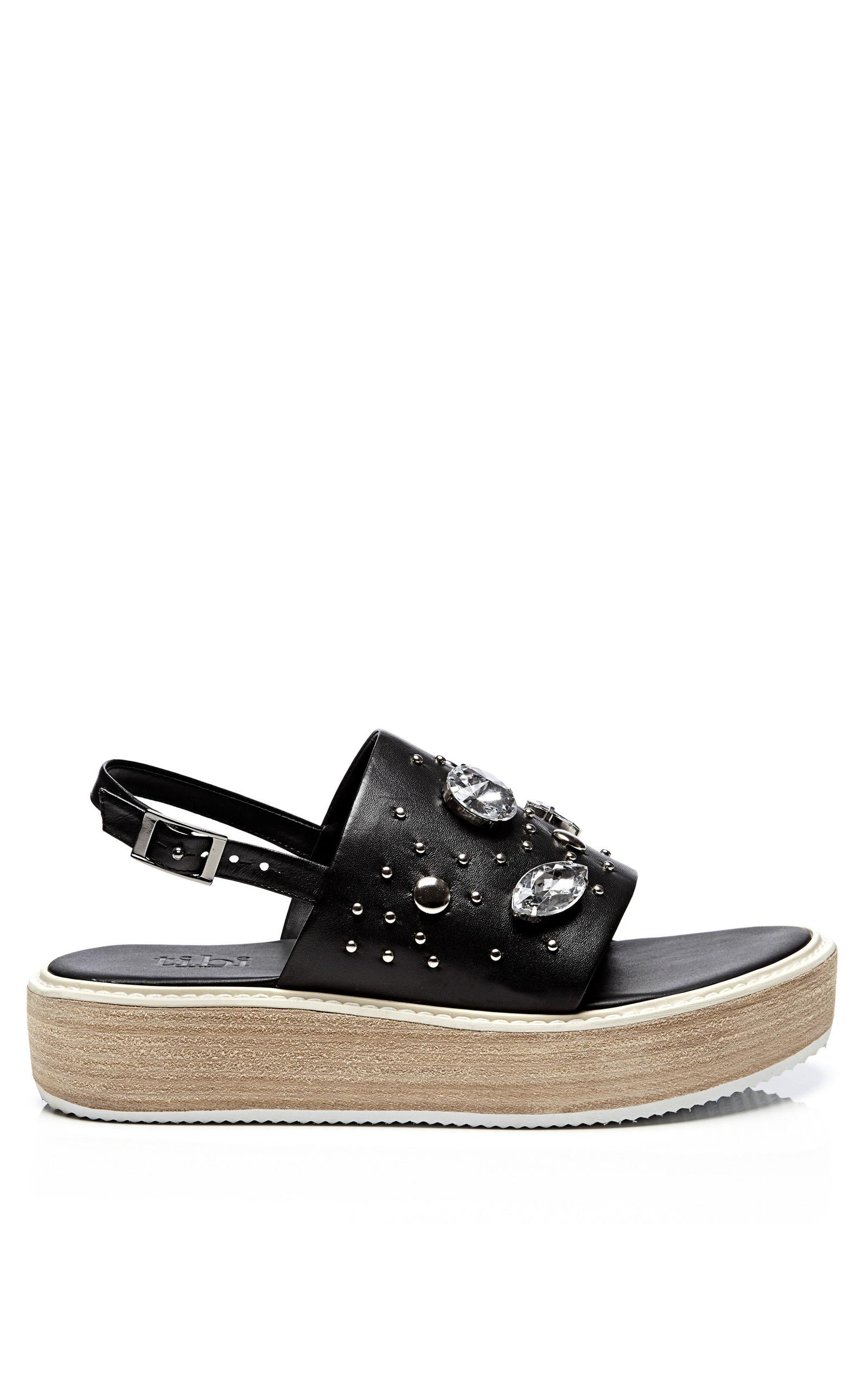 5a8e3ffe412 TibiEmbellished Leather Platform Sandals. CLOSE. Loading