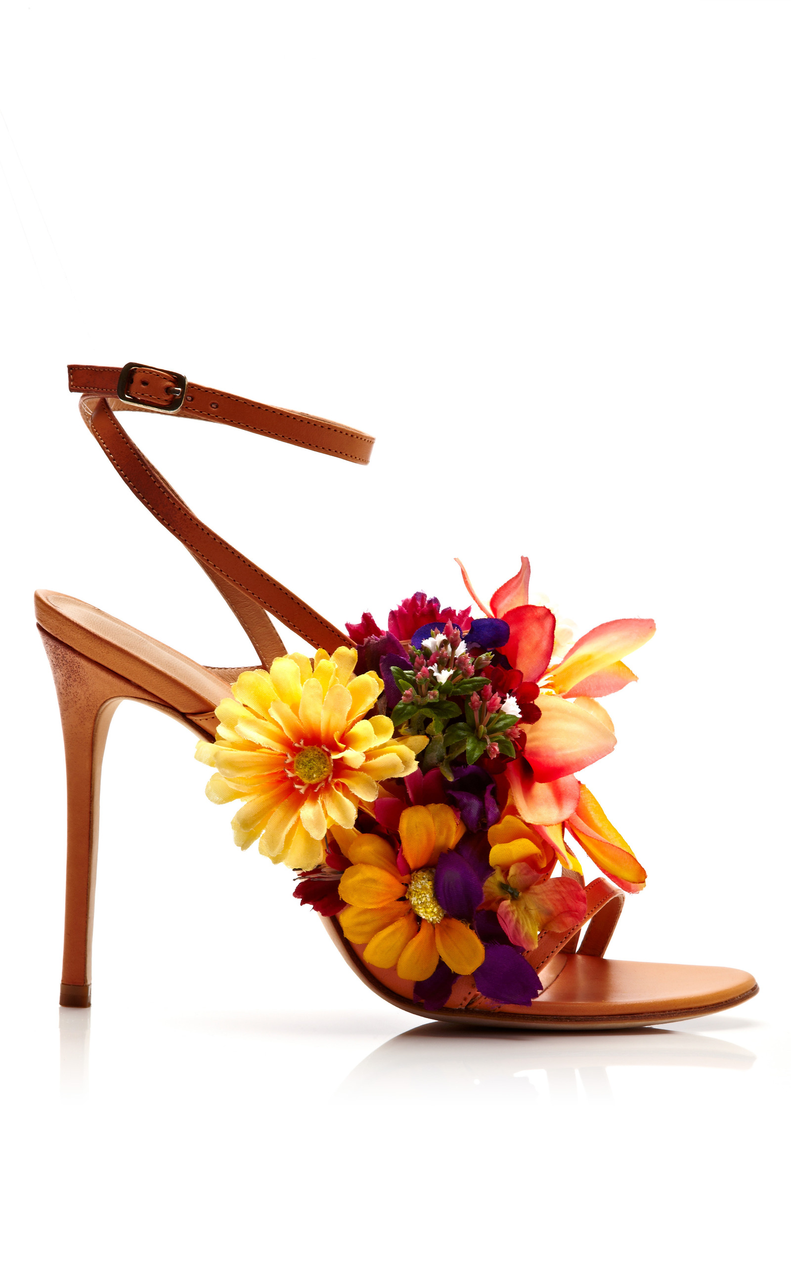 Kotur Jardines Silk Flowers Amp Vachetta Sandal By Moda Operandi