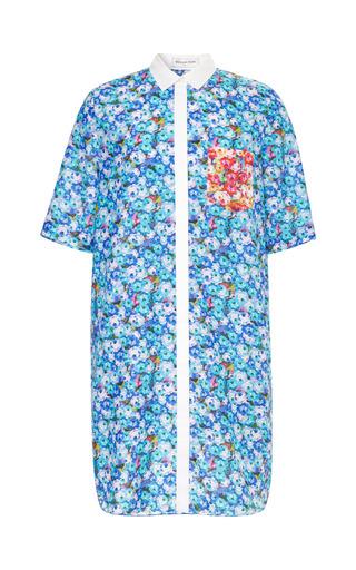 Megan Park One Pocket Sophia Silk Cotton Shirt Dress by MEGAN PARK for Preorder on Moda Operandi