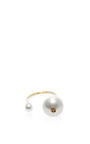 18 K Gold And Double Pearl Ring by DELFINA DELETTREZ Now Available on Moda Operandi