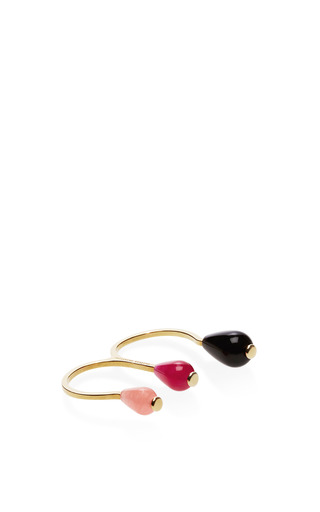 Candy Gold Plated Triple Stone Ring by DELFINA DELETTREZ Now Available on Moda Operandi