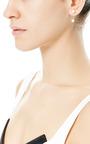 18 K Gold And Double Pearl Single Earring by DELFINA DELETTREZ Now Available on Moda Operandi