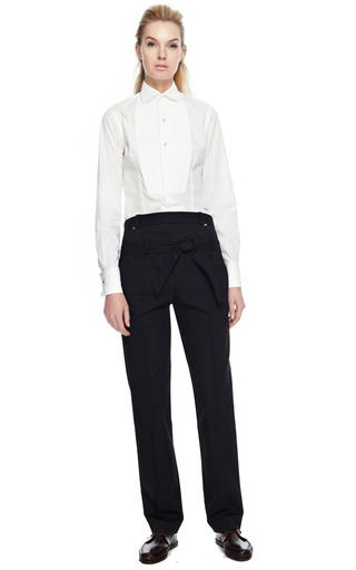 Rosie Assoulin Cotton Faille Wrap Loop Trousers by ROSIE ASSOULIN for Preorder on Moda Operandi