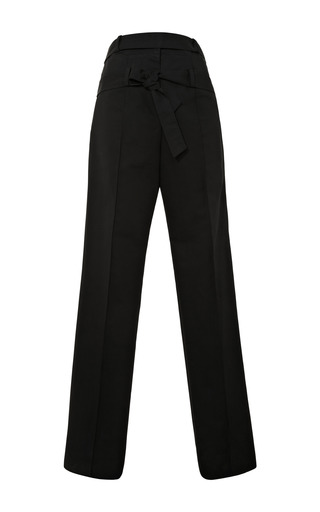 Medium rosie assoulin black rosie assoulin cotton faille wrap loop trousers