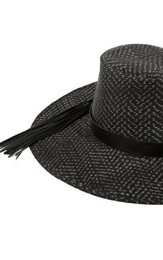 Hacienda Montaecristo Fernanda Hat In Black by HACIENDA MONTAECRISTO for Preorder on Moda Operandi