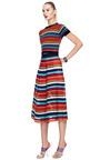 Cynthia Rowley Multi Stripe Mesh Inset Skirt by CYNTHIA ROWLEY for Preorder on Moda Operandi
