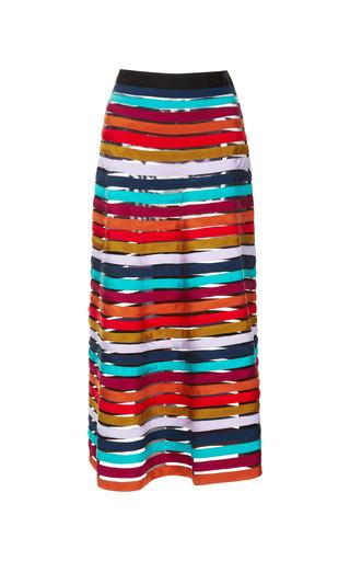 Medium cynthia rowley stripe cynthia rowley multi stripe mesh inset skirt