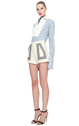 Maggie Norris Made To Measure Pembroke Bespoke Shirt by MAGGIE NORRIS COUTURE for Preorder on Moda Operandi
